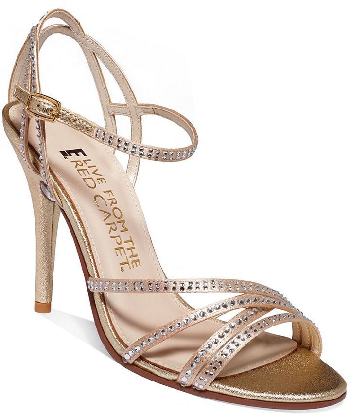 Red Carpet E! Live from the Zahara Ankle Strap Evening Sandals on shopstyle .com