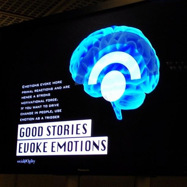 """""""Good stories evoke emotion""""- #CannesLions  -via @whatshotfridays - statigram)"""