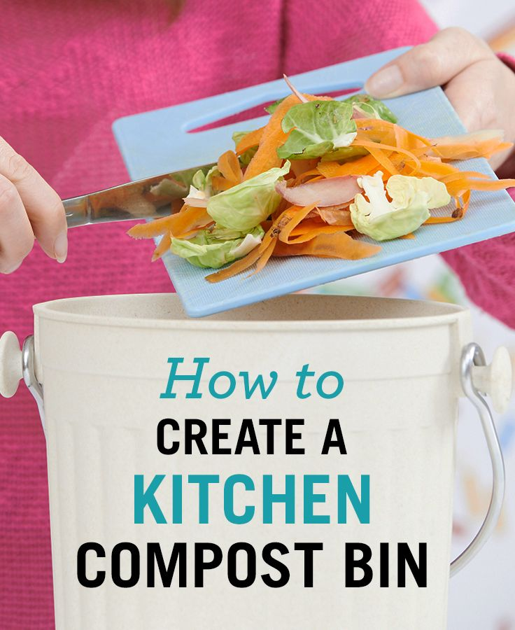 make a compost bin for your kitchen with this easy diy