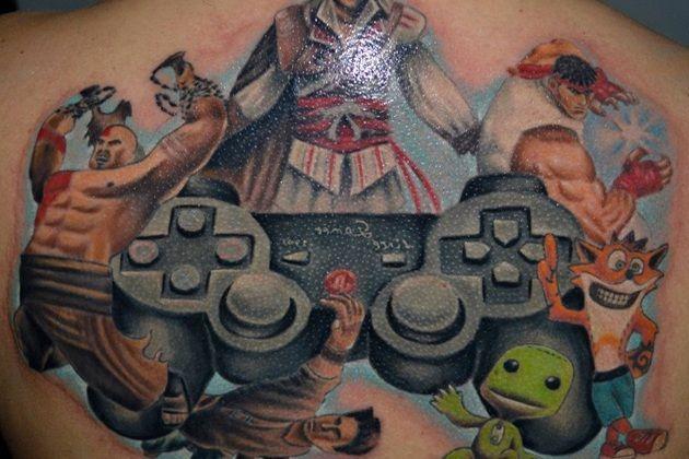 video game tattoo design ideas video game stuff pinterest. Black Bedroom Furniture Sets. Home Design Ideas