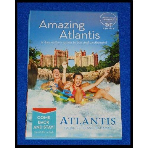 ***BRAND NEW*** ATLANTIS WATER PARK MAP BROCHURE NASSAU BAHAMAS PARADISE ISLAND - $2.99