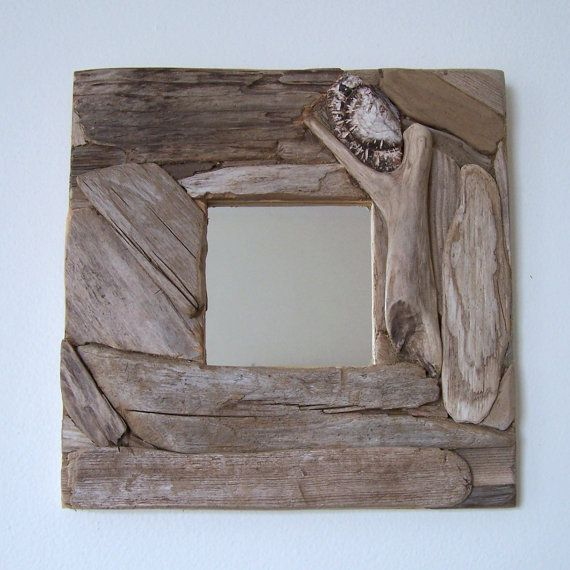 Hey, I found this really awesome Etsy listing at https://www.etsy.com/listing/187295517/driftwood-mirror-10-x-10-nautical-decor