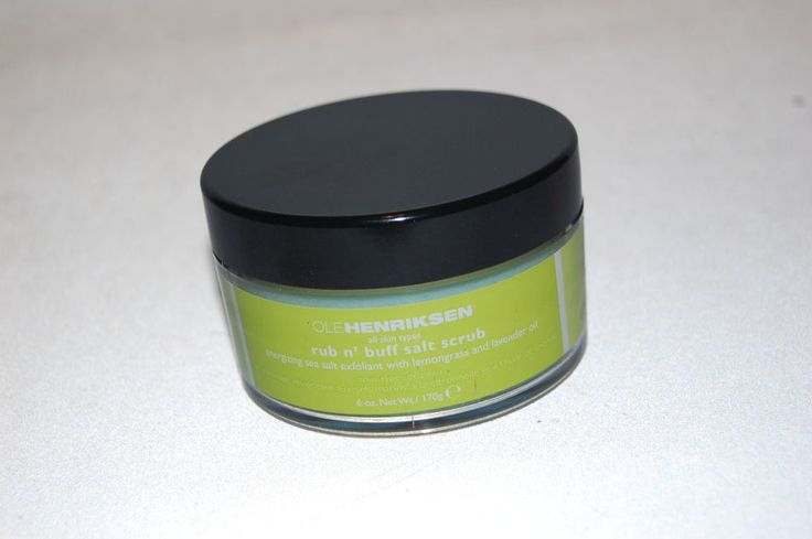 OLE Henriksen Run N Buff Sea Salt Scrub NEW 6 oz Energizing Exfoliant Limited Ed #OleHenriksen