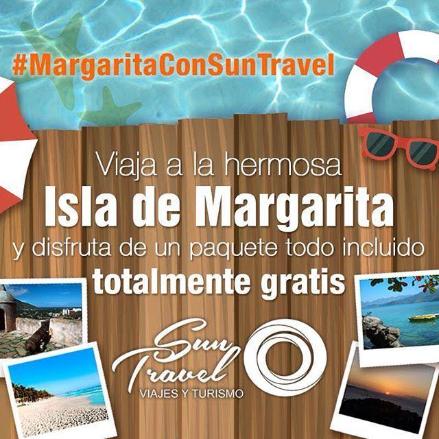 ¡ATENCIÓN! Solo para nuestros amigos de las redes sociales estaremos sorteando un fin de semana con TODO INCLUIDO para #Margarita para dos (2) personas en #SunSol Isla Caribe ¡totalmente GRATIS! Regístrate en Facebook/VTSunTravel y es muy importante que nos sigas en Twitter, Instagram y Fb donde estamos como VTSunTavel ¡Mucha suerte! #Suntravel #playa #MargaritaconSunTravel #Viajes #Relax #Hotel #Sun