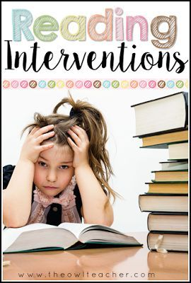 Do you have students who struggle with reading fluency and decoding?  Use these reading intervention ideas and strategies to help your reader move up in reading levels!