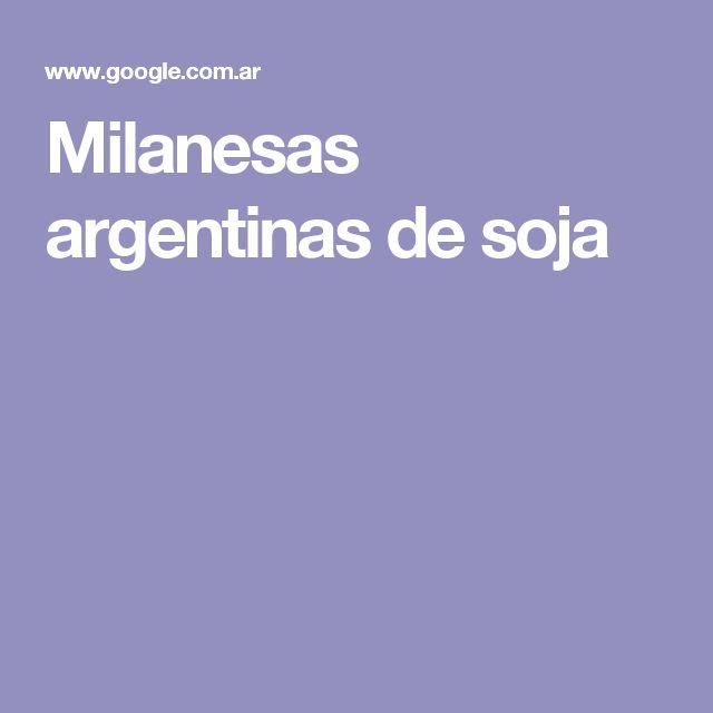 Milanesas argentinas de soja