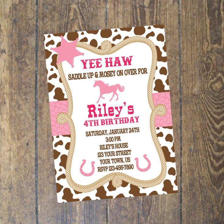 18 best Cowgirl Birthday Party images on Pinterest | Printable ...