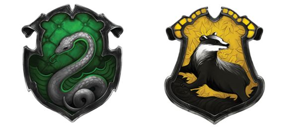 Slytherin and Hufflepuff- I loved the behind the scenes stuff on this crests! It really shows the care that was put into the site