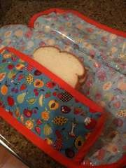 Fabric sandwich and food wraps. (less sewing for you non sewers out there.)