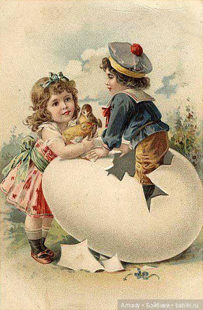 Зарубежные старинные пасхальные открытки / Культурное наследие / Бэйбики. Куклы фото. Одежда для кукол