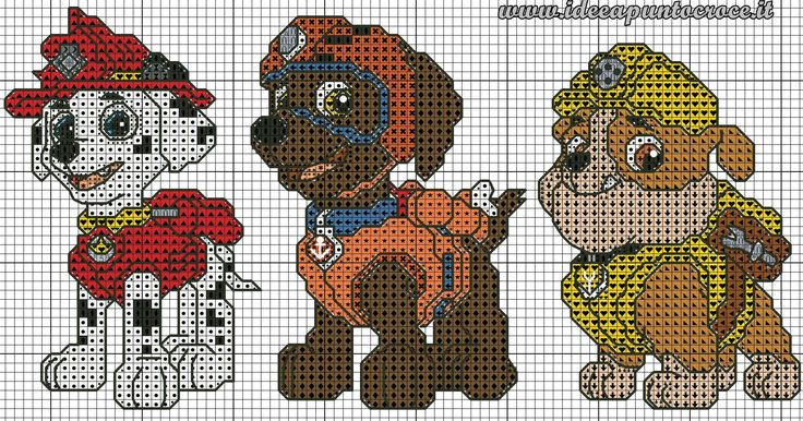 Paw Patrol 1 of 3 Crochet Graphs Pinterest Change 3 and Paw patrol