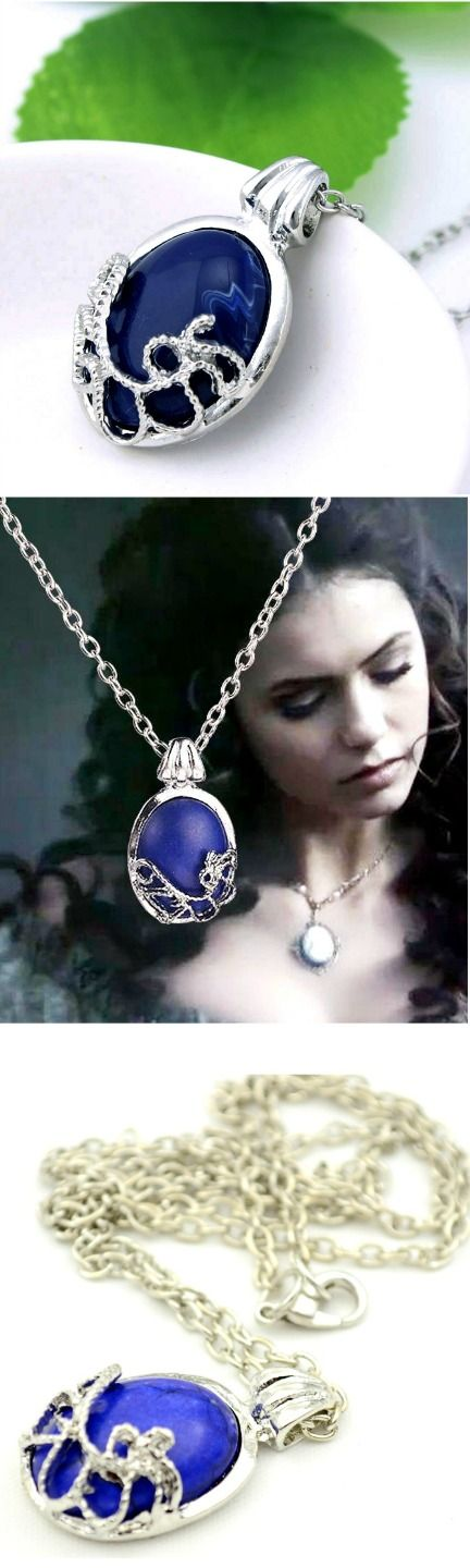 The Vampire Diaries Katherine Anti-sunlight Silvered Natural Stone Necklace! Click The Image To Buy It Now or Tag Someone You Want To Buy This For. #TheVampireDiaries