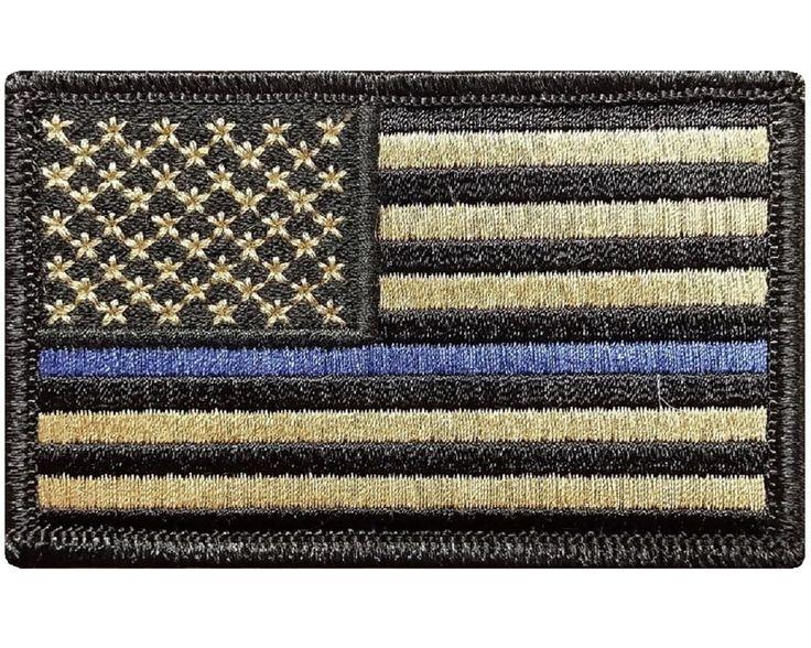 thin blue line union flag patch cops - 736×588