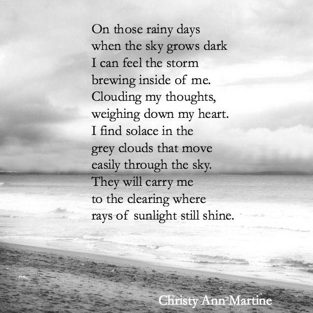 On Those Rainy Days poem by Christy Ann Martine - Sad poems - dark poetry - depression #christyannmartine