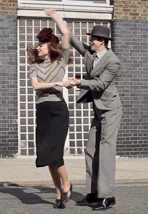 hat...check! pencil skirt...check! swing dance....check!