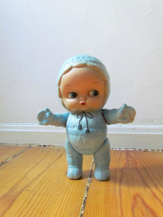 Adorable 50s vintage doll quirky decor or by HUHLALAVINTAGE