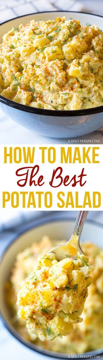 How To Make The Best Potato Salad Recipe Ever! via @Sommer | A Spicy Perspective