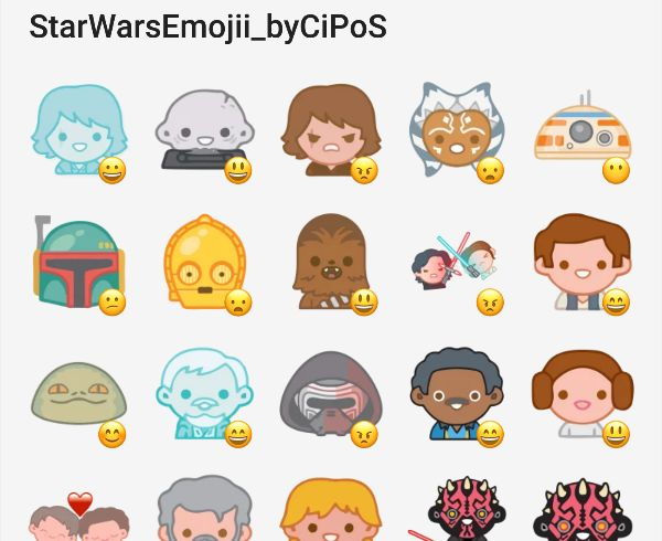 Star Wars Emoji #Telegram #Stickers