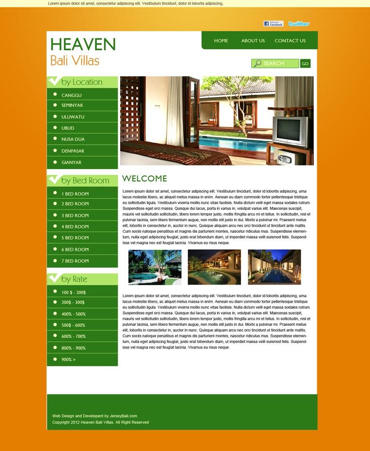 Heaven Bali Villas Rental  web design, web development, wordpress