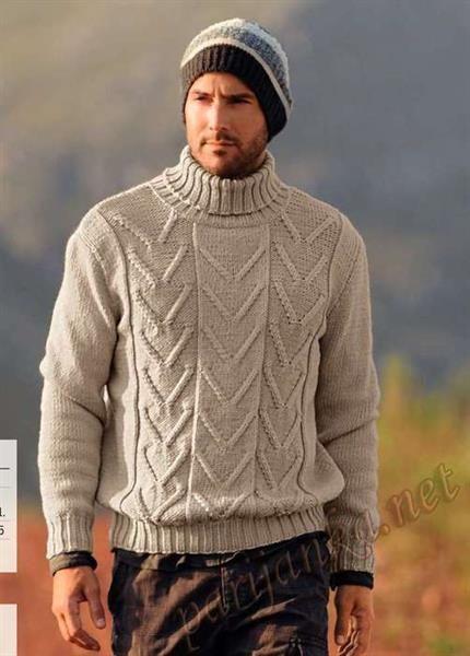 Мужские свитеры косами