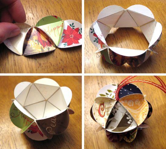 tutorial :: Crafting a Holiday Card Keepsake Ornament :: by nicole of lillyella
