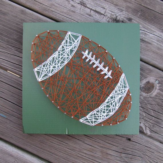 Made to order string art football by Blossomingburlap on etsy