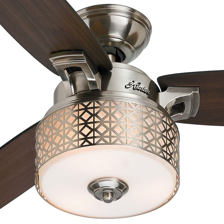 Brushed Chrome Indoor Ceiling Fan. Bedroom ...