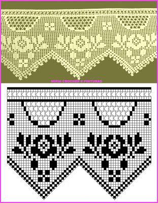 Resultado de imagen para bordes a crochet con rosas