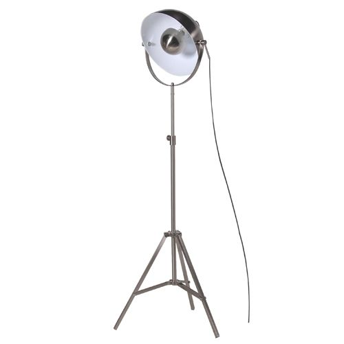 Nickel Tripod Spotlight Floor Lamp