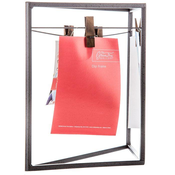 "Gray Triangle Metal Frame with Clips - 4"" x 6"" | Hobby Lobby | 1377514"