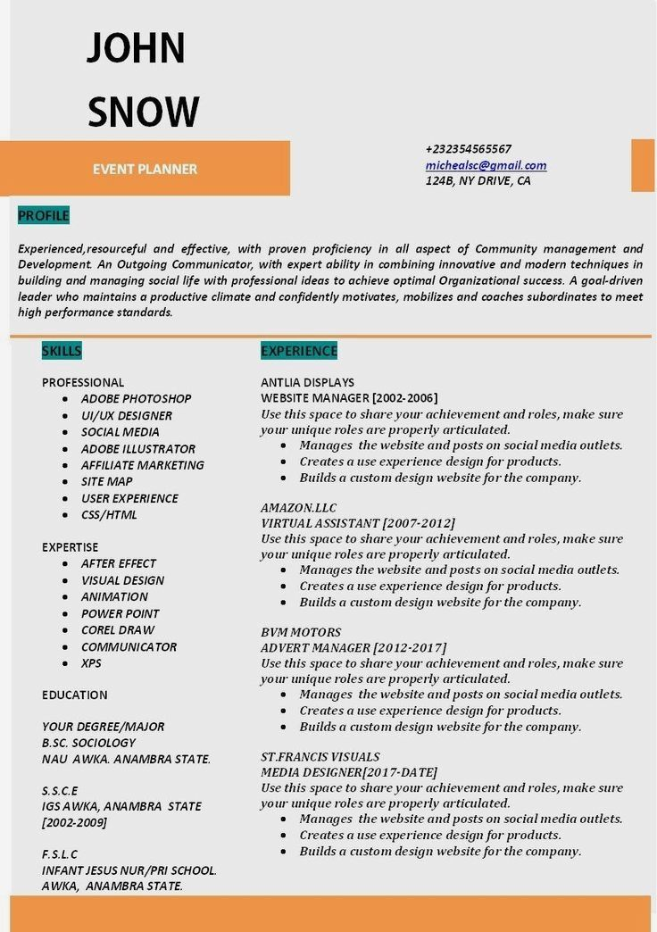Resume Example Cv Example Professional And Creative Resume Design Cover Letter For Ms Word Resume Tips Resume Examples Resume Tips No Experience