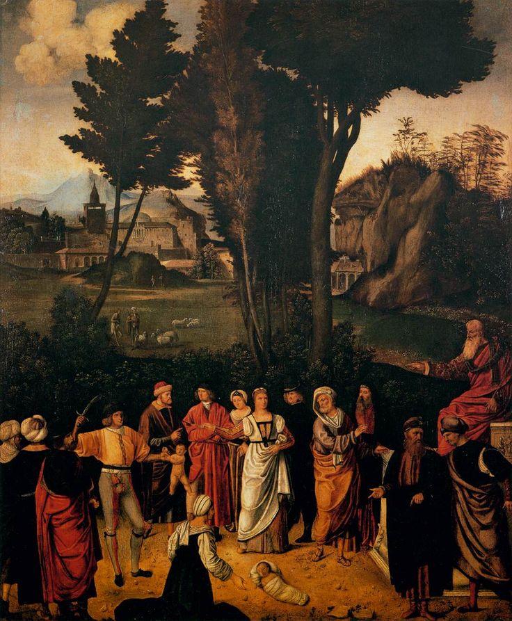 GIORGIONE The Judgment of Solomon c. 1505 Oil on wood, 89 x 72 cm Galleria degli Uffizi, Florence