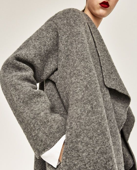 Image 6 of FULL POINTED COLLAR COAT from Zara