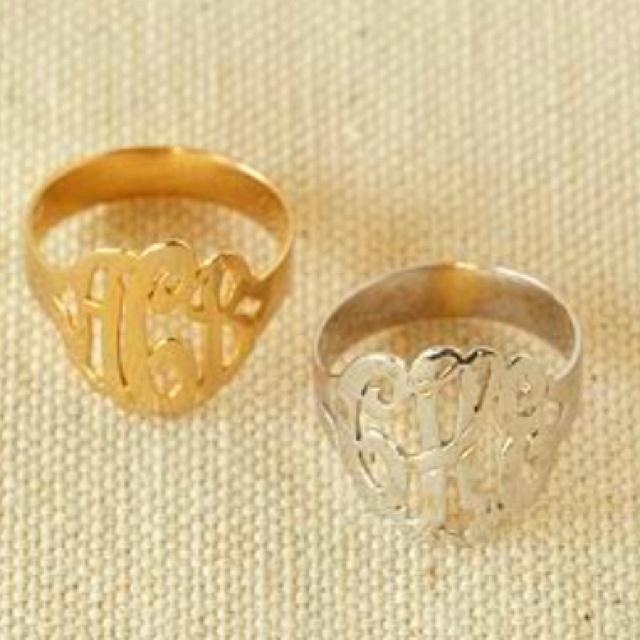 : Fashion, Style, Initials, Clothing, Monogram Rings, Accessories, Jewelry Rings, Accessorizing, Monograms Rings