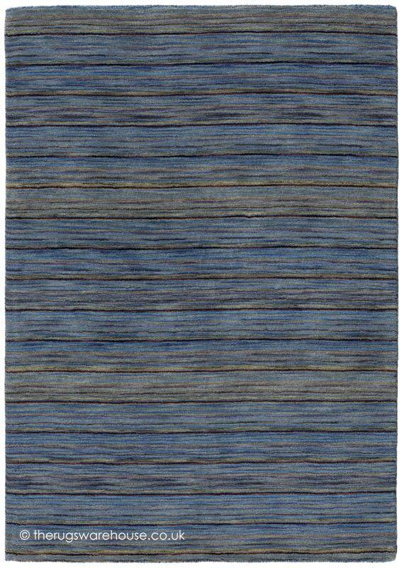 Altea Mini Stripes Blue Rug   Blue Rugs