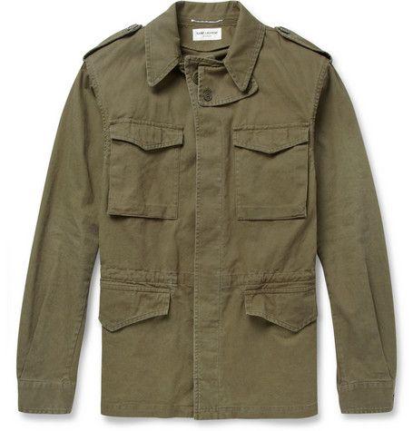 Saint LaurentRegular-Fit Cotton and Linen-Blend Field Jacket