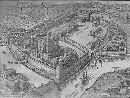 Birds eye view of Bristol Castle