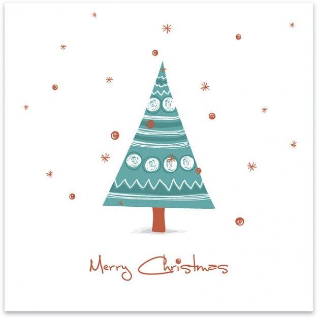 desenhada cartão de Natal