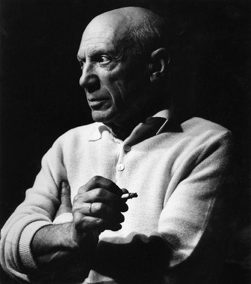 Picasso à la cigarette II©Lucien Clergue