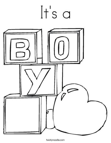 Boy Baby Shower Coloring Pages