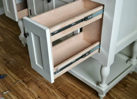 How To Build A Cabinet Door That Pulls Out In Sink Console