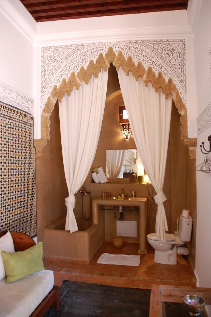 Dar Soufa, #rabat, #riad, #maroc, #morocco, # Moroccan Stylebath Room Moroccocurtains
