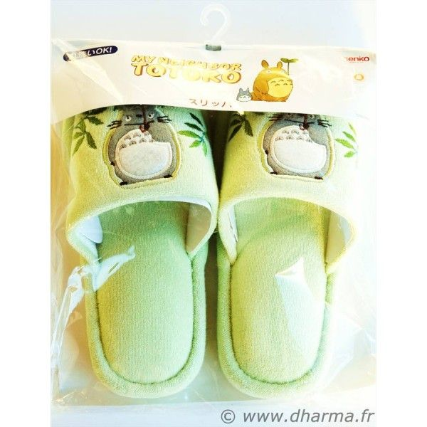 Japanese Anime Totoro Sleepers Imported From Japan. More photos at http://www.dharma.fr/746-paire-de-pantoufles-totoro.html