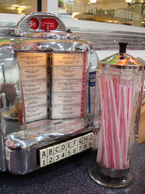 """at the soda fountain - over a rootbeer float, you shared with someone special, you listened to the Platters sing """"Twilight Time"""" ... chh"""
