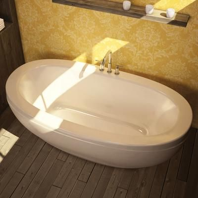 Keystone by MAAX - Romance White Acrylic Freestanding Soaker Tub - 105465-000-001-000 - Home Depot Canada: Freestanding Tubs, Bath Tubs, Romances, Bathroom Ideas, Center Drain, Home Depot, Bathroom Reno, Freestanding Bathtubs, Soaker Tub