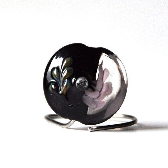 Lampwork focal lentil bead Elizabet by GreyaLampwork on Etsy