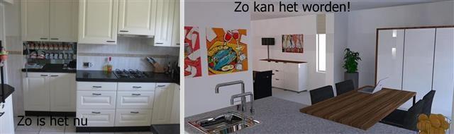 3D impressie ter bevordering van de verkoop van een woning in Zevenbergen