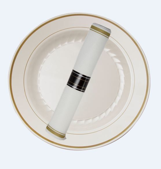 Pair the New Reflections® Roll and Masterpiece™ Plates together for your next dinner party & 35 best No way thatu0027s plastic! images on Pinterest | Shun cutlery ...