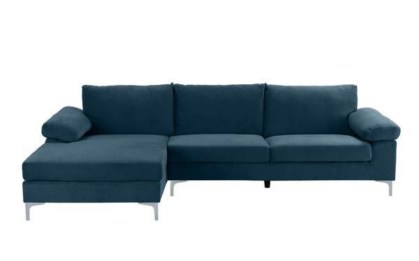 Amanda Modern Velvet Large Sectional Sofa Large Sectional Sofa Comfortable Sectional Sofa Sectional Sofa