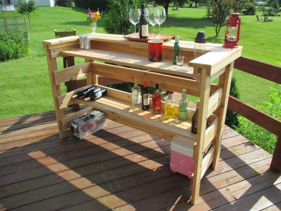 Bar Outdoors Indoors Deck Patio Cedar Free Shipping Us 48